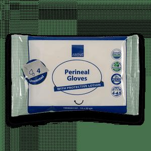 Abena Perineal Gloves incontinentiewashandjes 4 stuks ongeparfumeerd