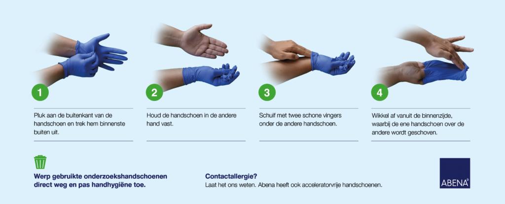 Abena-handschoenen-uittrekken