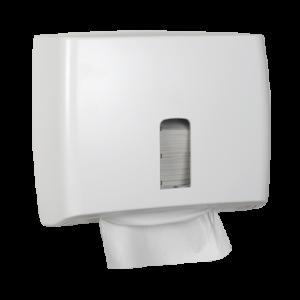 Abena Care-Ness mini dispenser voor papieren handdoeken vel-voor-vel uitgifte