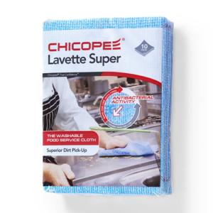 Lavette Super 10 schoonmaakdoeken blauw Abena