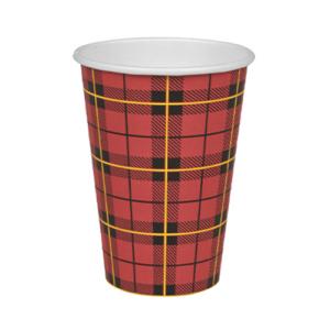 Abena Scotty Cup koffiebeker met Schotse ruit