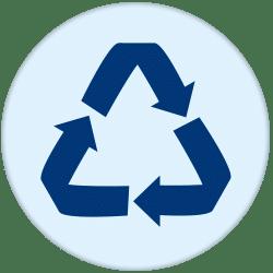 95% van alle afval wordt gerecycled