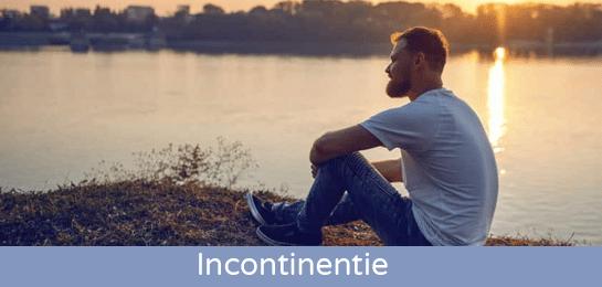 mannen met incontinentie