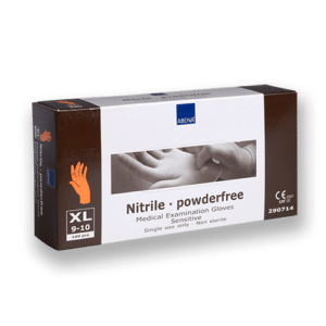 Handschoenen-nitril-oranje-xl
